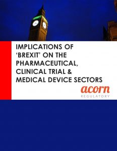 The Implications of Brexit on the Pharmaceutical, Medical Devices & Clinical Trials Sectors whitepaper cover