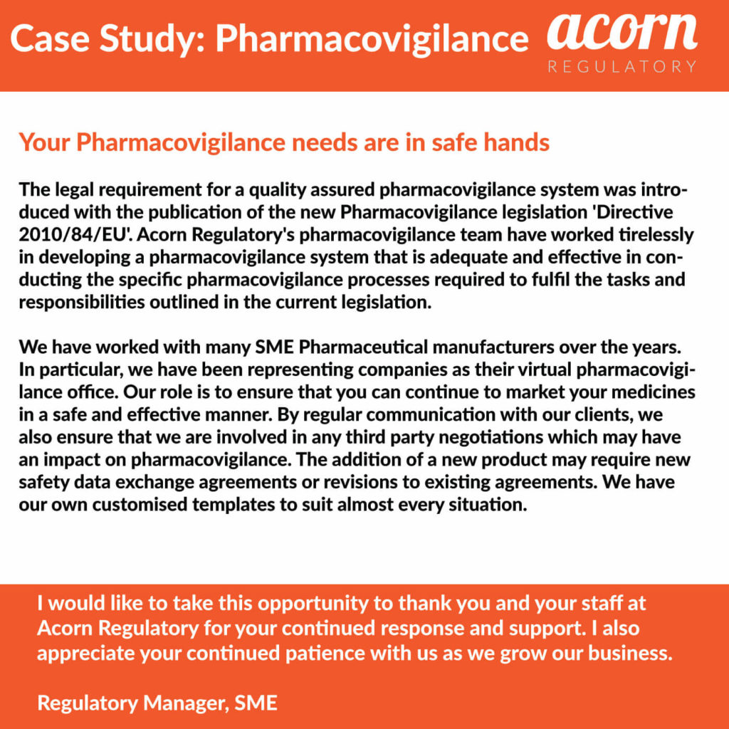 Our pharmacovigilance team is here to help you with your responsibilities as Marketing Authorisation Holder (MAH). Contact us today on 00353 52 61 76706.