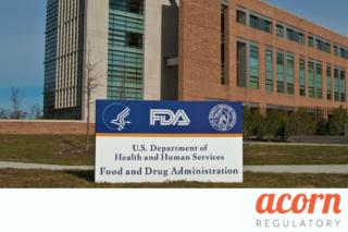 DMF deadline FDA building Acorn Regulatory