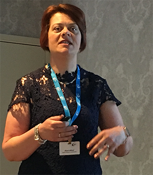 Alison Wilson, Almac speaking the 2019 RQA Conference sponsored